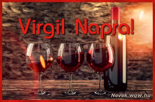 Vörösbor Virgil névnapra