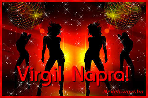 Virgil névnapi képeslap