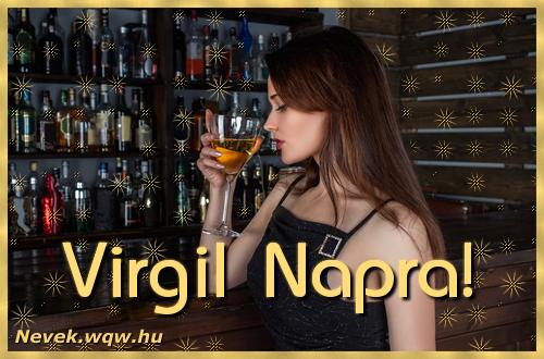 Névre szóló képeslap Virgil névnapra