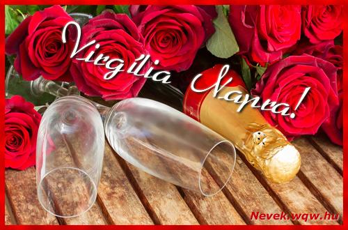 Virgília üdvözlőlap
