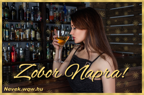 Névre szóló képeslap Zobor névnapra