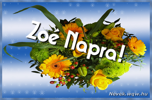 Zoé névnapi képeslap