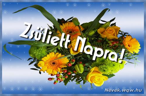 Zsüliett névnapi képeslap